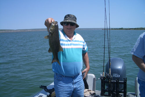 First week of June, clients did great in 10' of water catching their overs on walleye with a couple nice smallmouth bass to boot