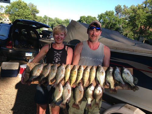 Lake Thompson crappie and perch, fun day on the water