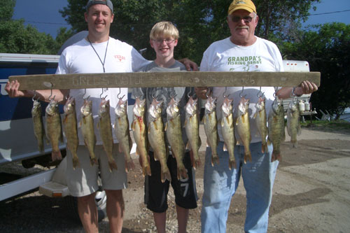 Dad, brother-in-law and his son, Haydon and I fished Sutton's Bay area