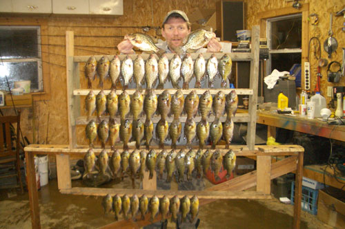 Kia and I had a great day on Marindahl, the lake is just loaded with panfish