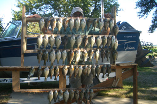 Brian, Kia and I caught these crappie and gills
