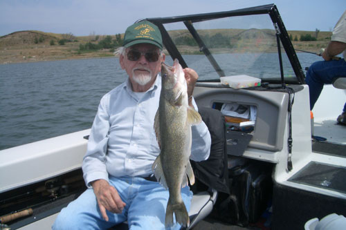 "In memory of my great-uncle, Ralph Adams with his 21"" walleye"