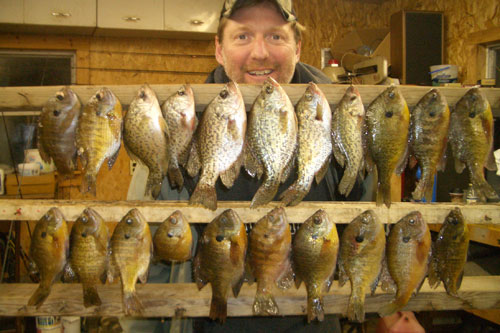 Panfishing crappies and gills