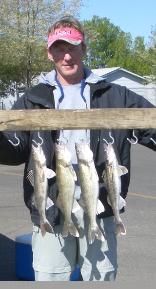 I caught some saugers with two walleye out scouting the Fort Pierre area