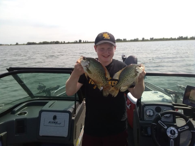 Great catch of crappie on AlumaCraft boat.