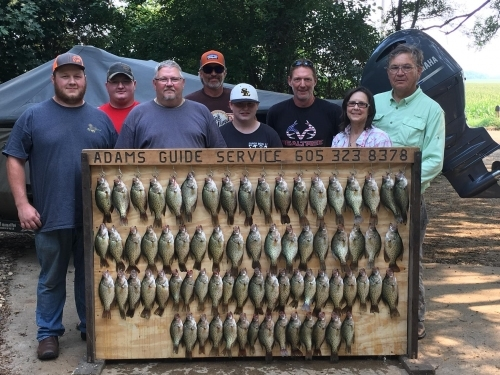 Crappie fishing tournament South Dakota