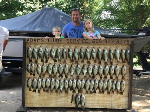 Family crappie fishing